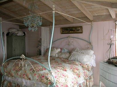 beautiful antique iron bed to a king size from my paris flea market diary