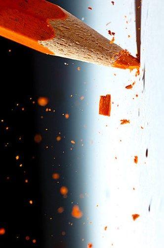 pencil, color orange
