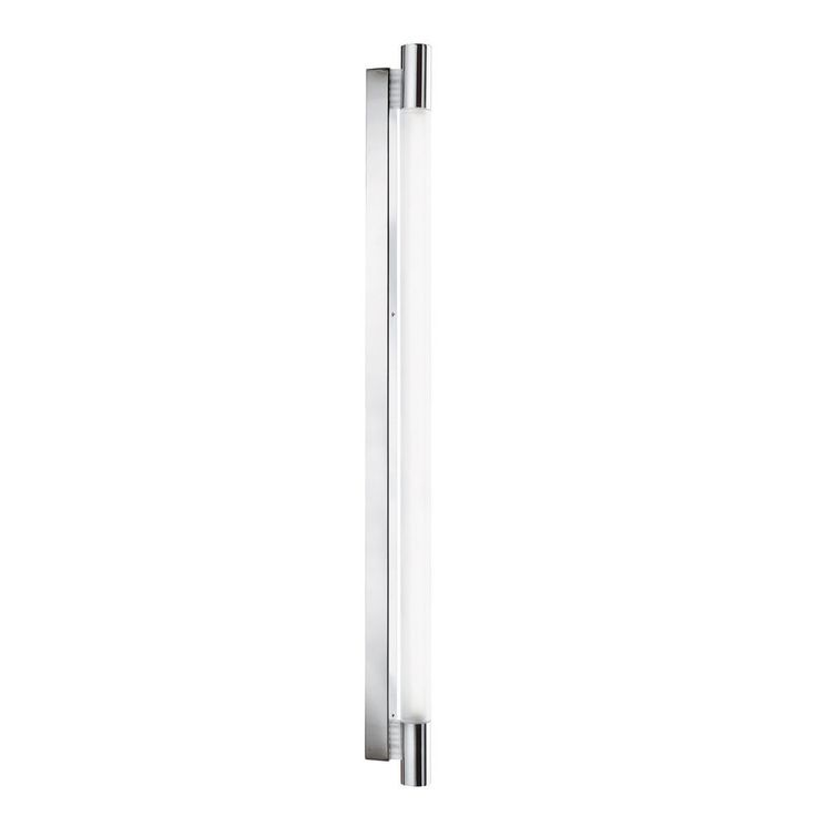 Searchlight 9021CC IP44 Chrome T5 Bathroom Wall Light With Circular White Glass