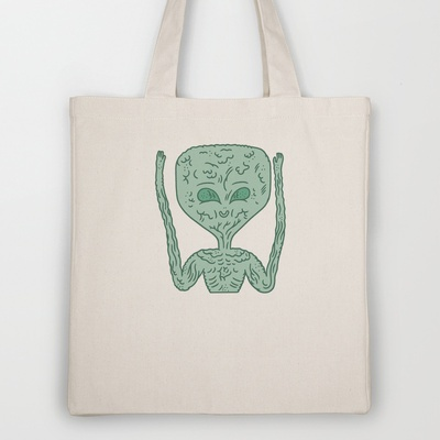 biological robotic avatar  Tote Bag by Jon Boam - $18.00