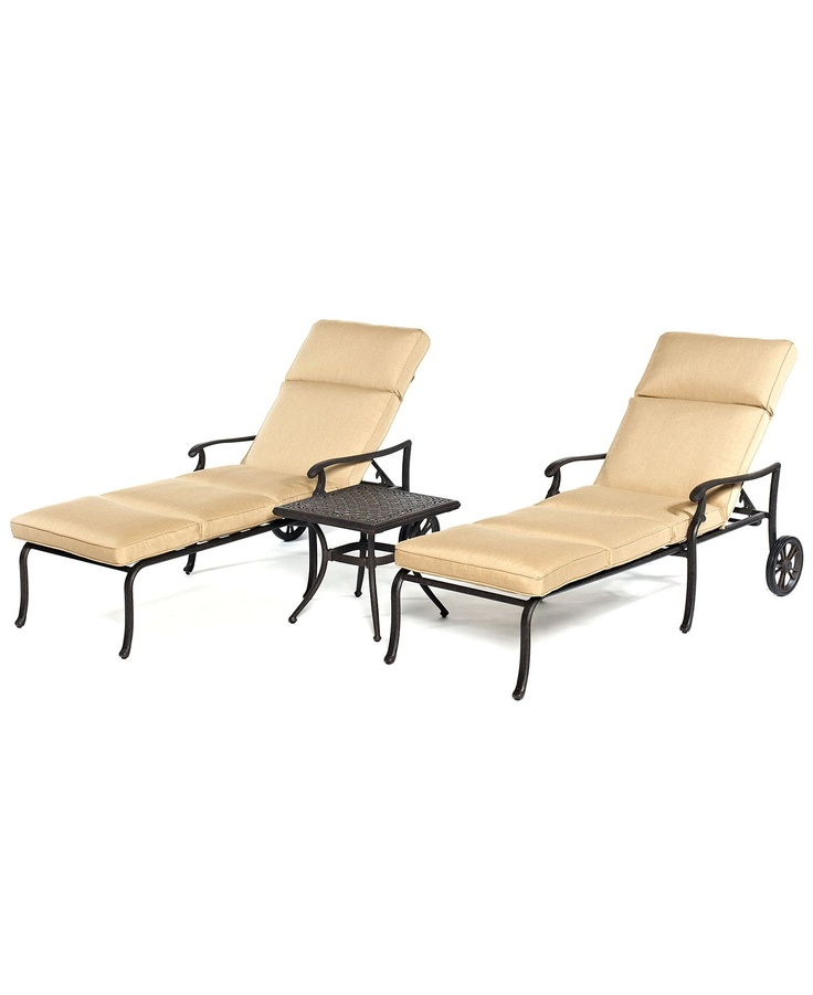 Kingsley Outdoor 3 Piece Chaise Set 2 Chaise Lounges And 1 End Table
