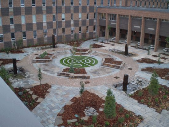 Northwestern health sciences university courtyard parks for Garden design university