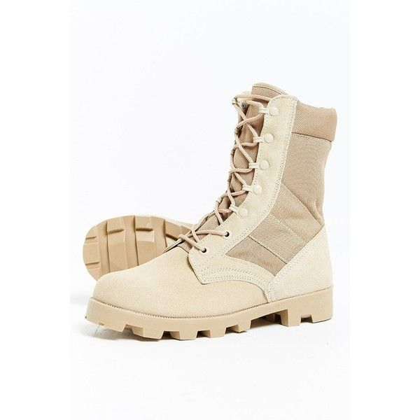 Rothco Jungle Boot ($75) ❤ liked on Polyvore featuring men's fashion, men's shoes, men's boots, mens military boots and mens military style boots