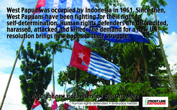 West Papua was occupied by Indonesia in 1961. Since then, West Papuans have been fighting for their right to self-determination. Human rights defenders are discredited, harassed, attacked and killed.