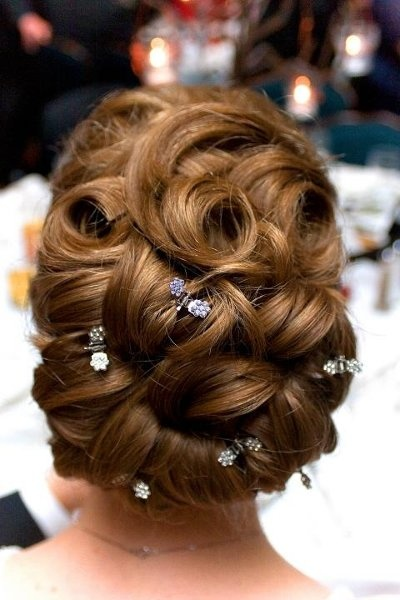 Wedding Hair Photos on WeddingWire - this would be beautiful accented with Lilla Rose You-pins   lillarose.biz/partridge