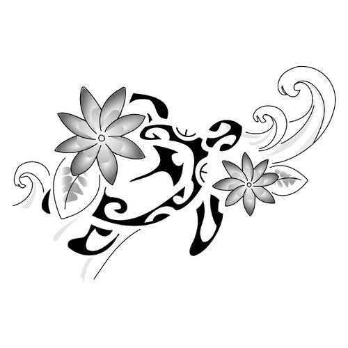 Love this design. Thinking about an asian art wave, and realistic plumeria flowers on the sides.