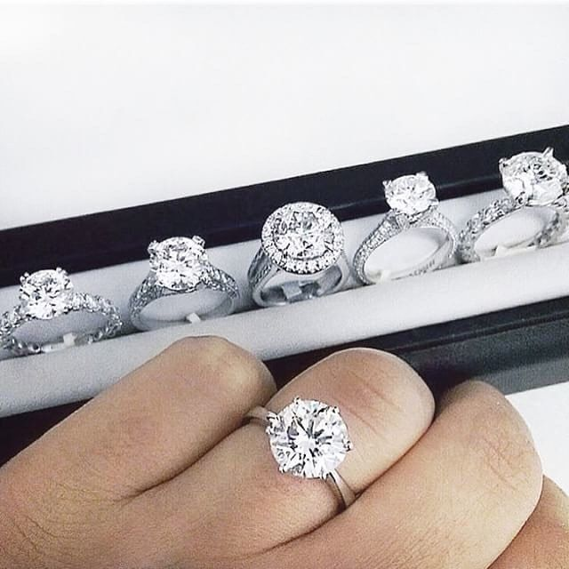 So many reasons to say YES from     Breathtaking sparkly diamond rings by @jeanpierrejewelers  We love all of them   Which one is you favourite ladies? . .