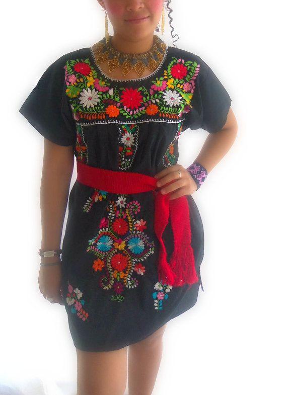 La Fiesta de Noche Mexican Embroidered Boho by elizabethpalmer