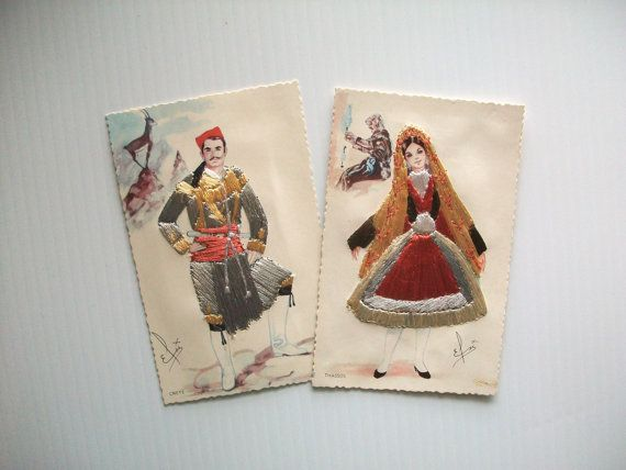 vintage art cards . vintage Grecian post cards with by GTDesigns