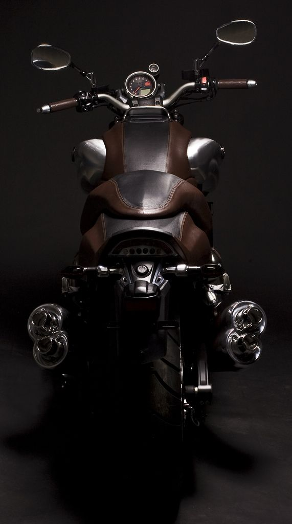 ♂ Masculine & Elegance brown motorcycle Yamaha VMAX by Hermes photo
