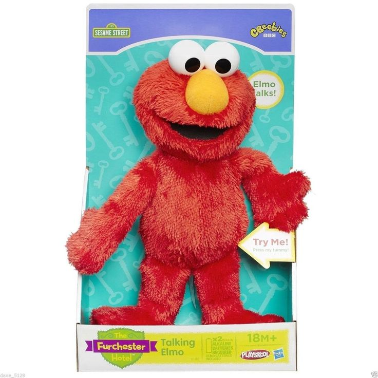Sesame Street Furchester Hotel - Talking Elmo Soft Toy For Kids NEW #Playskool