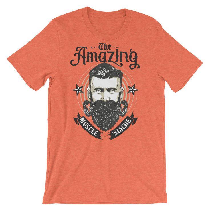 Mustache Tshirt - Beard Tshirt - Funny Mustache Shirt - Mustache Gift - Mens Shirts - Short-Sleeve Unisex T-Shirt