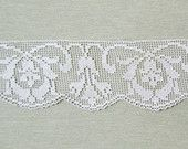 Items similar to Vintage filet lace edge trim - Art Nouveau style, early 1900's on Etsy