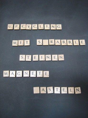 Maak je eigen scrabble magneten. Niet nieuw, wel super gaaf!