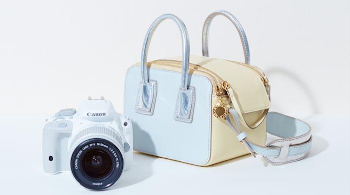 Camera mét Stella McCartney-tas van Canon