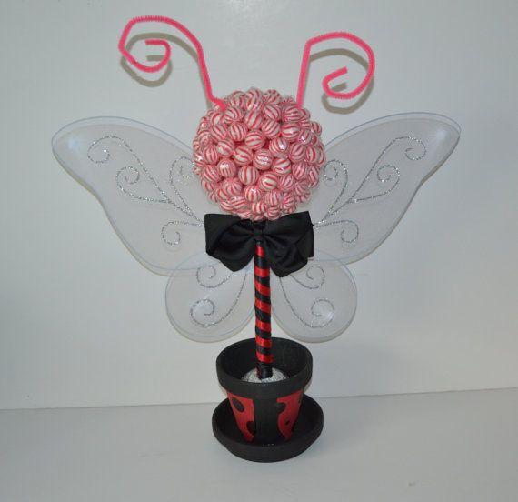 Ladybug lollipop topiary ladybug candy topiary ladybug for A salon solution port st lucie