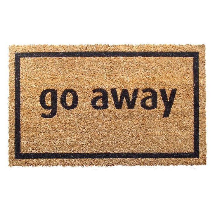 Go Away Nonslip Coir Doormat - P689