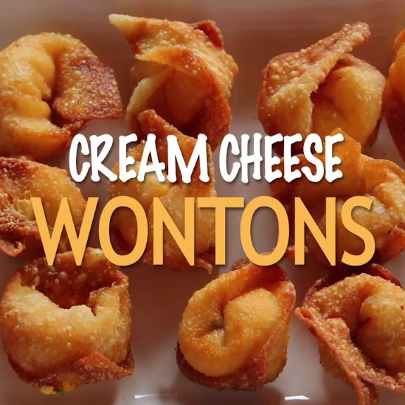 Great news! This Cream Cheese Wontons come complete with a DIY dipping sauce.