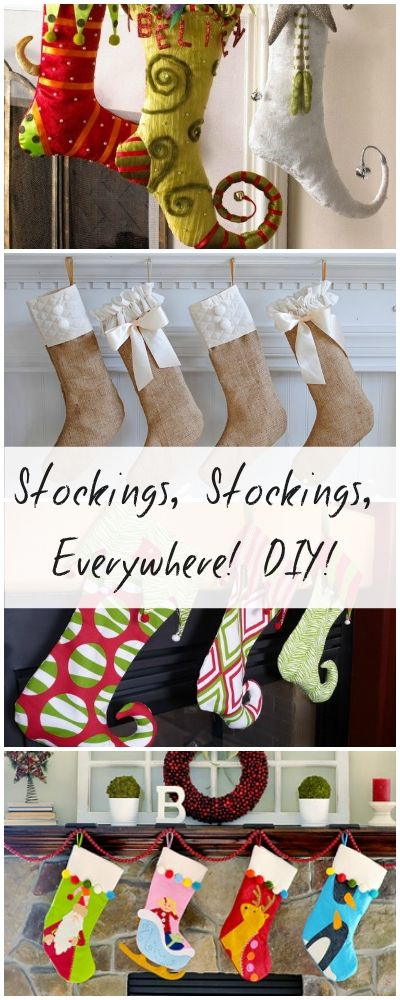 DIY Christmas Stockings • Tutorials and ideas full of inspiration!