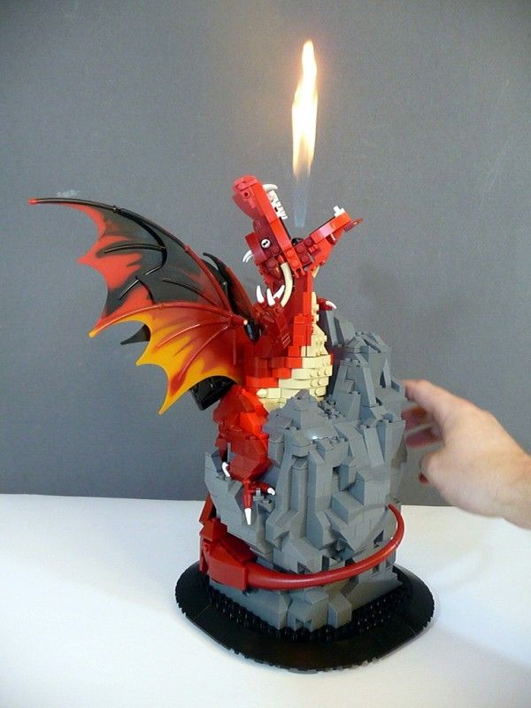 #LEGO Dragon that breathes real fire.  Amazing build--the fire puts it over the top.