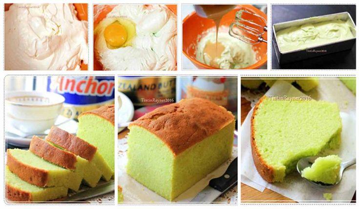 Resep Pandan Cake Hanya 5 Bahan. Bisa Lembut, Wangi dan Enak!