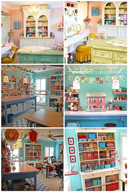 """Favorite """"Famous"""" Sewing Rooms by Elena @ Breakfast for Dinner, via Flickr"""
