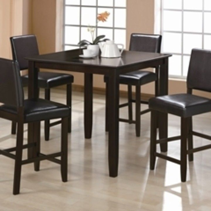 Shop For The Crown Mark Derick 5 Piece Counter Height Table Set At Wilcox Furniture