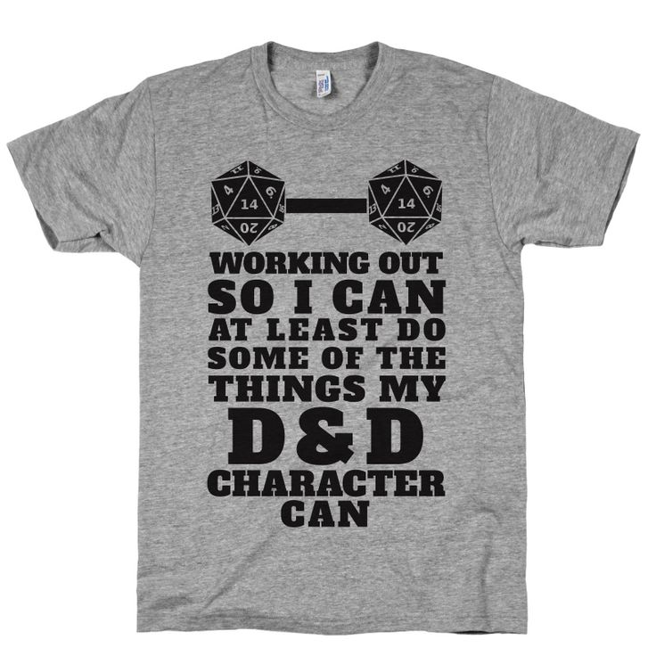Working Out So I Can Do At Least Some Of The Thing My D&D Character Can | Activate Apparel | Workout Gear & Accessories