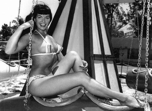 The effervescent Bettie Page at the playground.