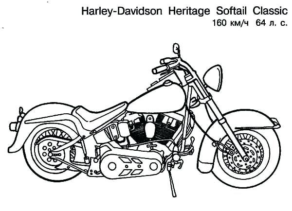 Image Result For Harley Motorcycle Coloring Page Harley Davidson