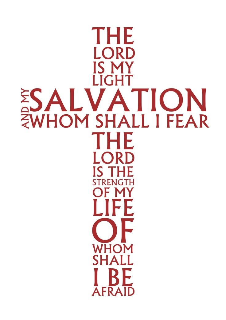 Typographic treatment of Psalms 27:1 by Christina Naidu.