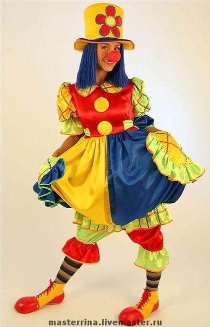 Костюм клоунессы ( кроме обуви) для детских праздников и веселых розыгрышей.