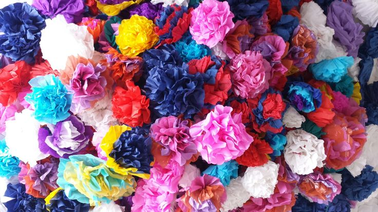 Hundreds of paper flowers made for the Casual Day Competition. #CasualDay2016 #queenm ♡