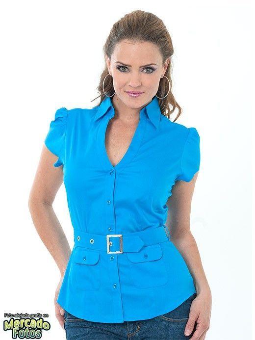 eb907ee3ae89 Modelos de blusas de vestir para damas | camisas de mujer | Blusa ...