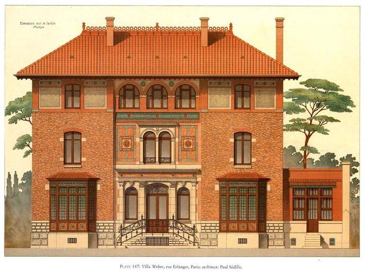 Elevation Of The Villa Weber Paris Cool Townhouses