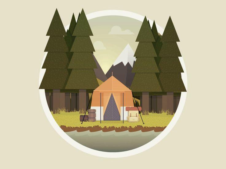 Camping Icon http://ift.tt/1JDVj6P