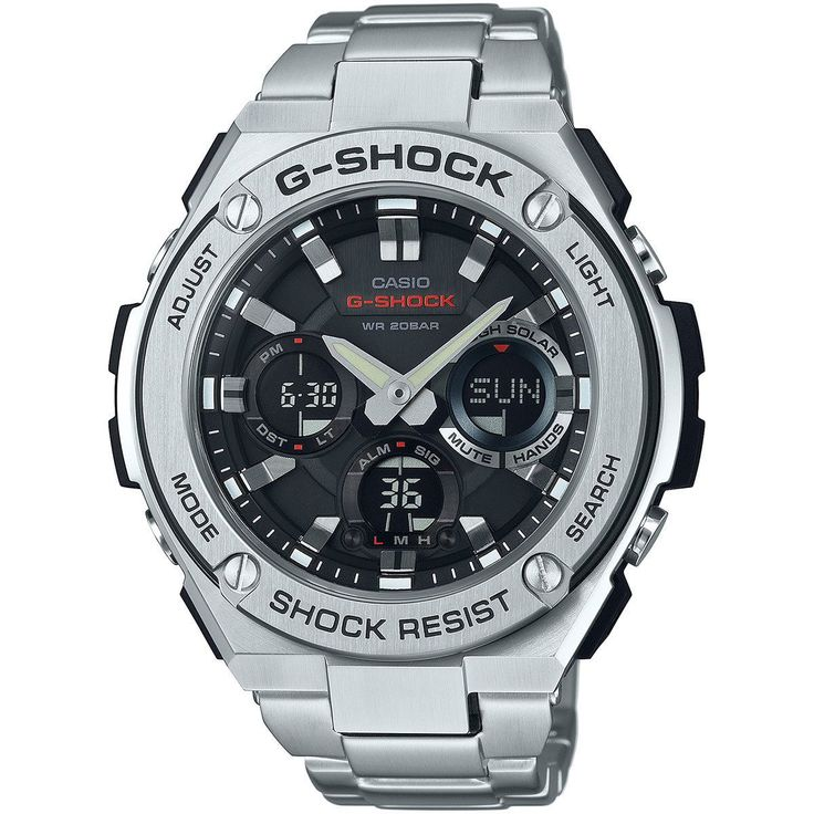 Casio G-Shock Men's GSTS110D-1A Analog-Digital Dial Bracelet Watch