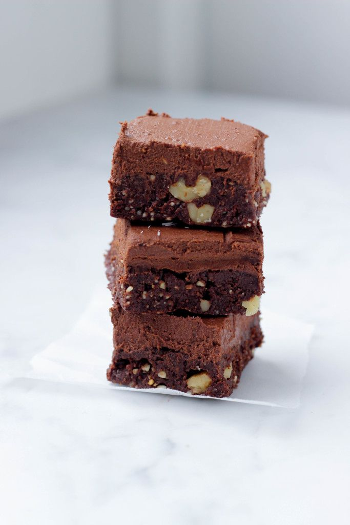 recipe for the most delicious raw vegan brownies EVER
