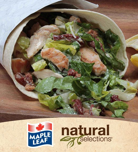 Chicken Caesar Wraps #NaturalSelections @MapleLeafFoods