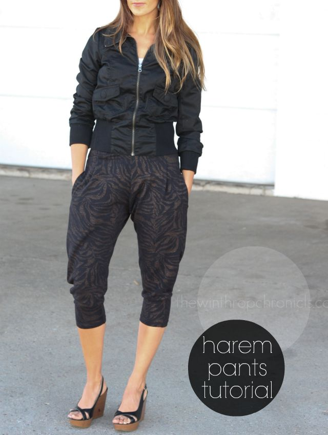 the winthrop chronicles: HAREM PANTS TUTORIAL... I think these are the only harem pants I've seen that I actually like!