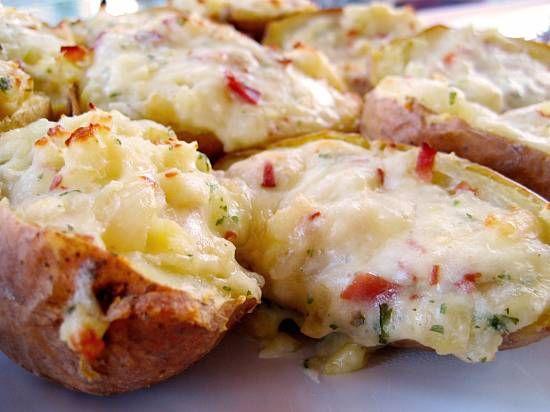 Romige Gevulde Aardappels Uit De Oven recept
