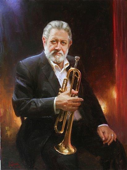 Bobby Shew,Jazz trumpeter by robert kuester Oil ~ 40 x 30