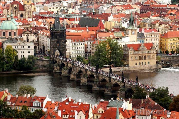 Praha-Česká republika Pohled na Karlův most