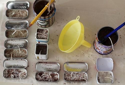 Homemade candles: Diy Ideas, Teacher Gifts, Teas Tins, Diy Candles, Crafts Ideas, Homemade Candles, Candles Crafts, Make Candles, Tins Cans