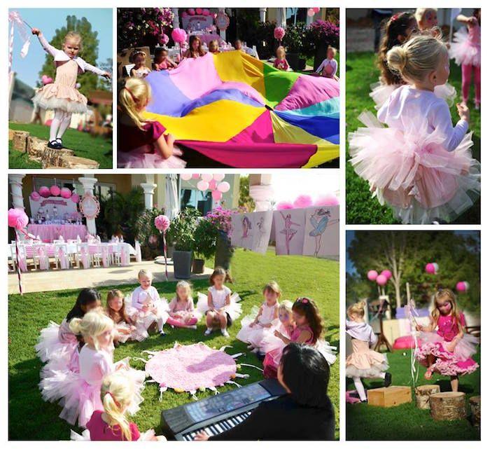 Little Ballerina Themed Birthday Party via Kara's Party Ideas KarasPartyIdeas.com The Place for All Things Party! #ballerinaparty #balletparty #balletpartyideas (3)