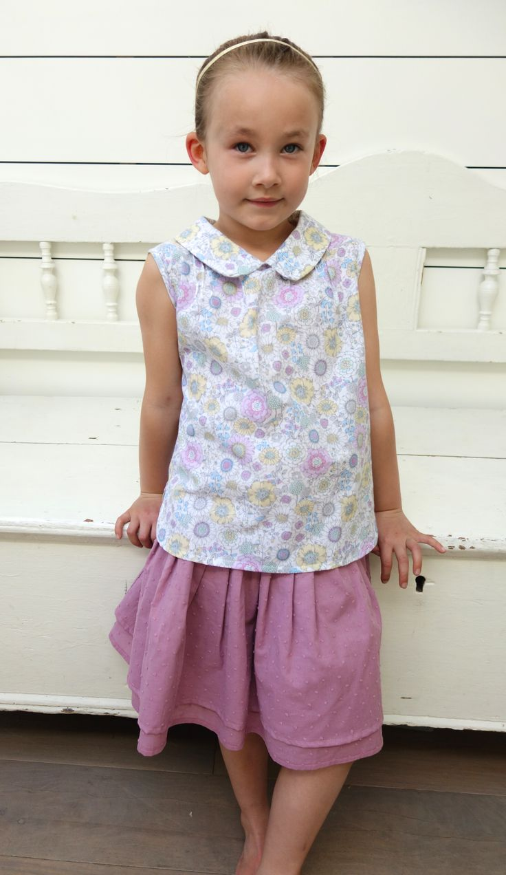 Daisy Shirt and Tiered Skirt. Ages 3-10 all made in London