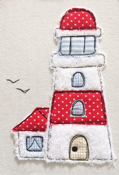 Stickmuster - Leuchtturm Doodle Stickdatei - ein Designerstück von feinliebshop bei DaWanda