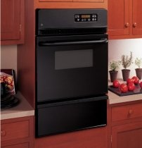 GE JGRS06BEJBB 24 Single Gas Wall Oven, Broiler Drawer, Black