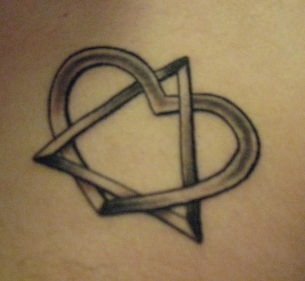 Adoption symbol tattoo The triangle represents the child, biological and adoptive parents and the heart represents the love they share for eachother.