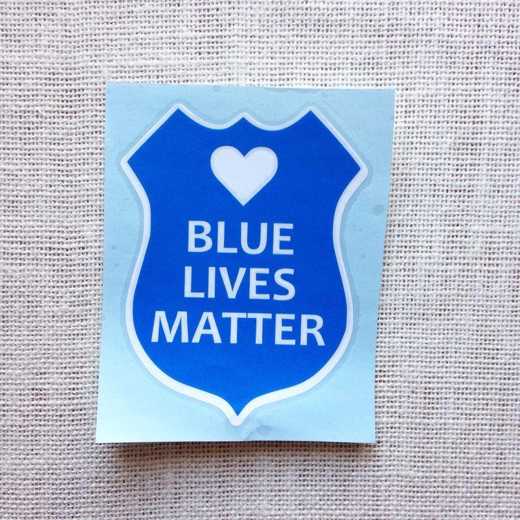 Blue Lives Matter, Blue Lives Matter Car Decal, Blue Lives Matter Sticker, Police Sticker, Police Decal, Police Car Decal, Custom Police by CameoandCompany on Etsy https://www.etsy.com/listing/259752498/blue-lives-matter-blue-lives-matter-car